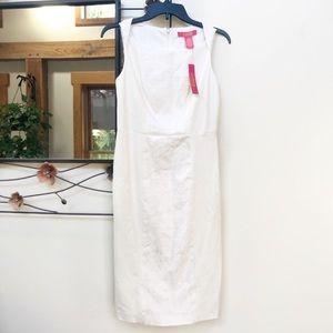 NWT Catherine Malandrino Ivory Sheath Dress 2